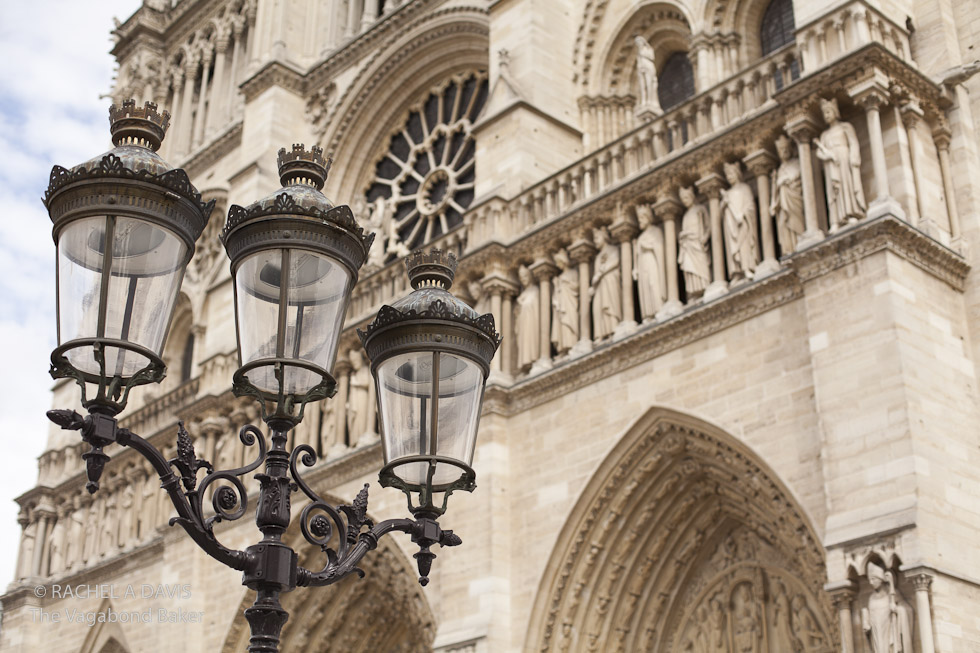 Notre Dame and lamps