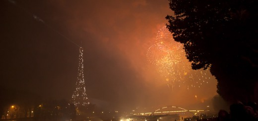 fireworks and a twinkly Eiffel tower