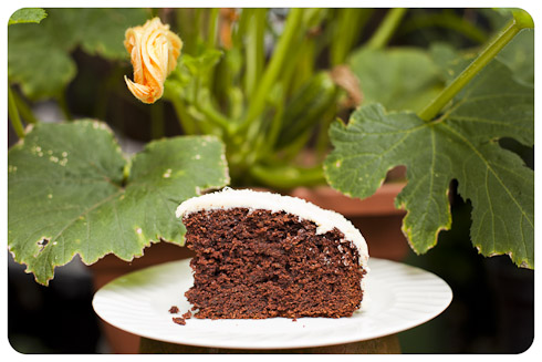 Chocolate Courgette Cake http://vagabondbaker.com/2012/07/28/chocolate-courgette-cake/
