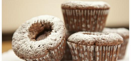 Hazelnut Sunken Nutella Cupcakes