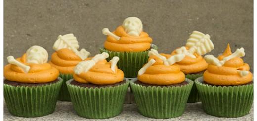 Halloween Bones Cupcakes