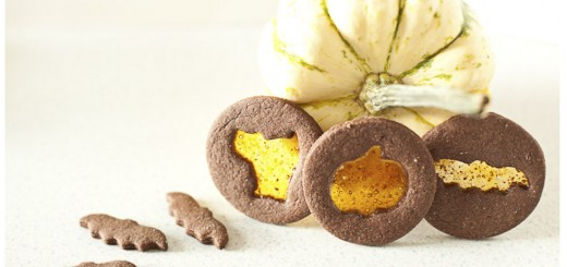 chocolate spiced halloween window cookies