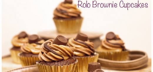 Rolo Brownie Cupcakes with a caramel filling