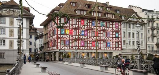Advent Calendar building, Luzern