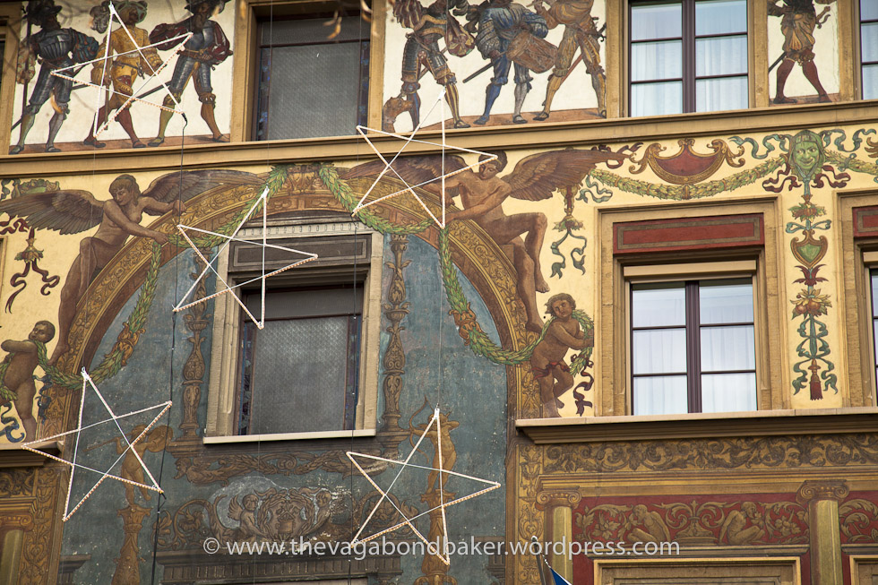 Pretty frescoed buildings, Luzern