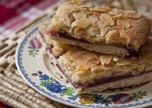 vegan almond slice- Vagabond Baking