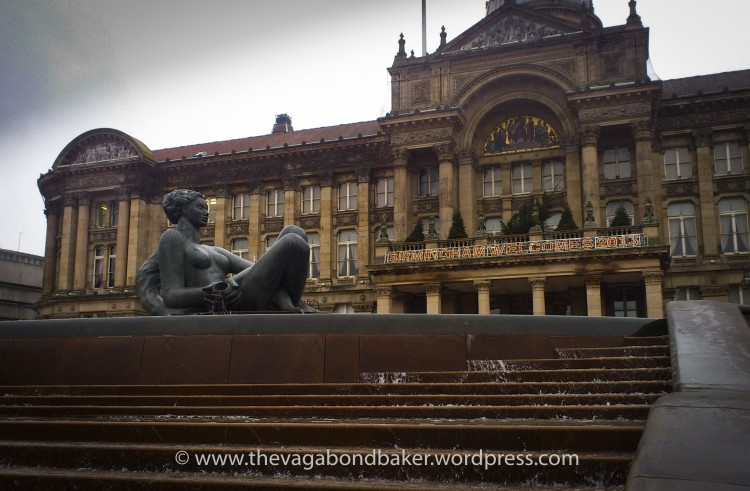 Brums favourite girl, the Floozie in the Jacuzzi. Actually called The River, lounging in Victoria Square in front of the Council House.