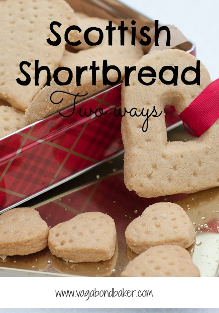 Scottish Shortbread two ways // Buttery shortbread is the King of biscuits