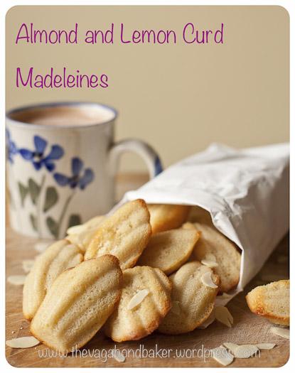 almond lemon curd madeleines | Vagabond Baker
