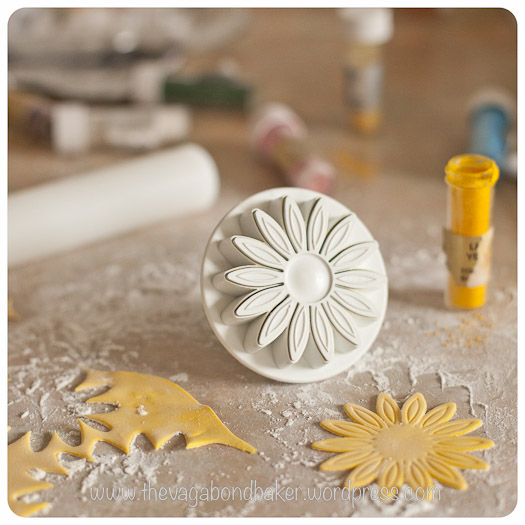 use a flower stamp cutter