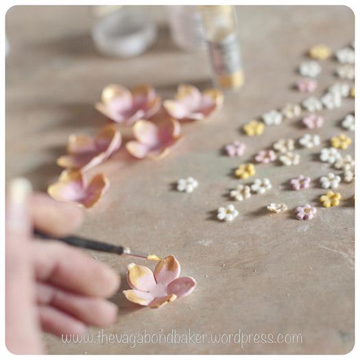 decorating the petals