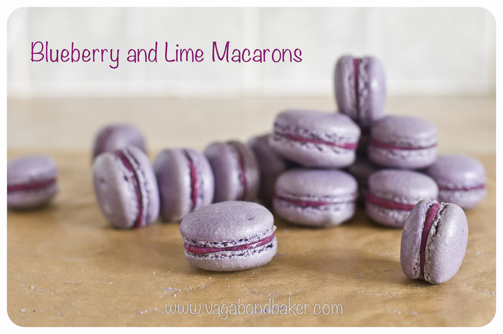Blueberry And Lime Macarons Vagabond Baker