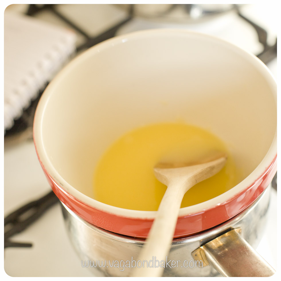 melt the butter and sugar together