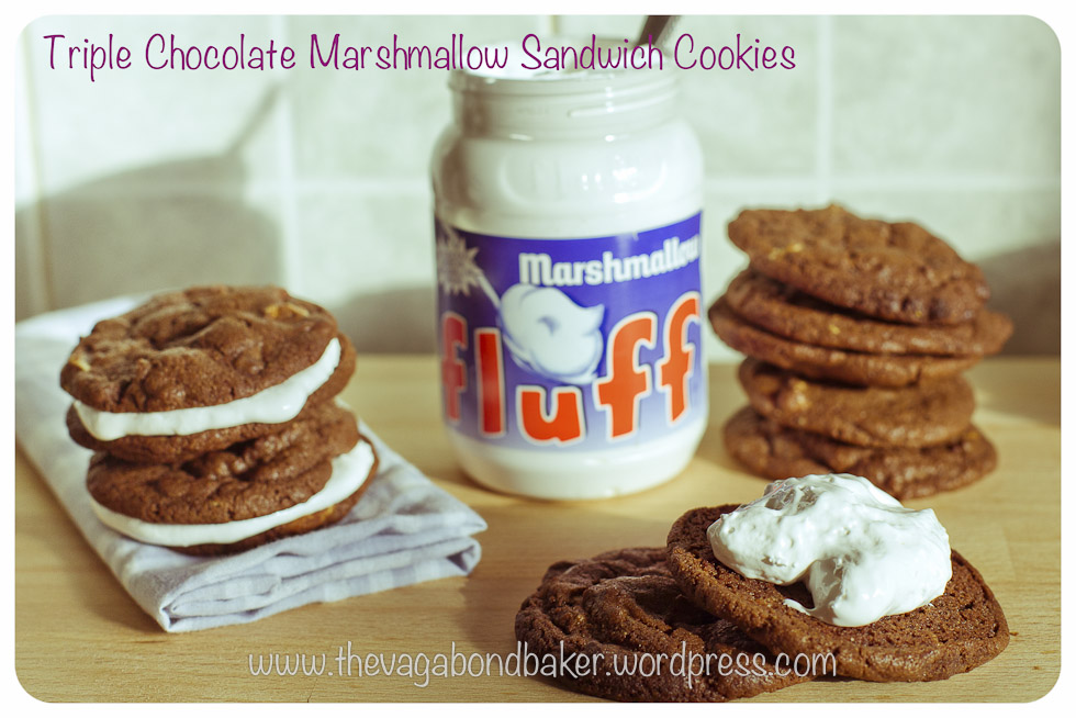 Triple Chocolate Marshmallow Sandwich Cookies * Vagabond Baking