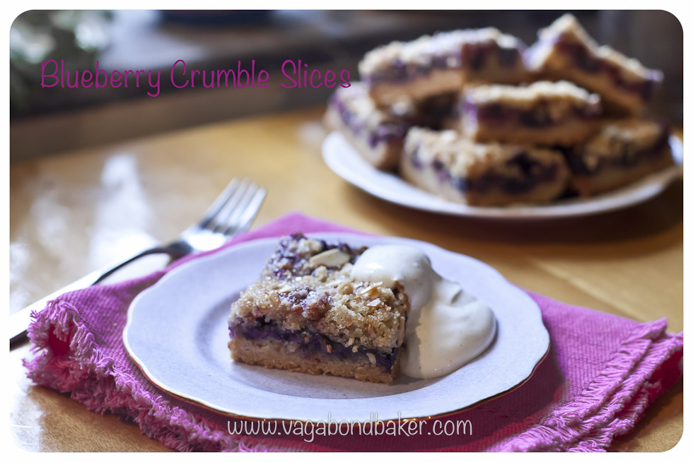 Blueberry Crumble Slices   Vagabond Baking