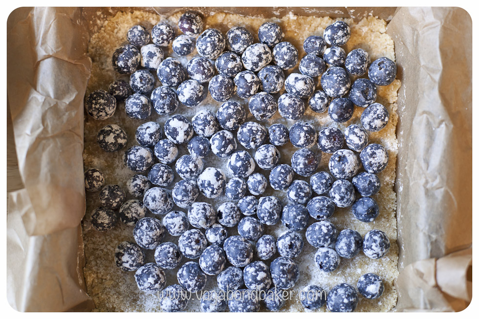 roll the blueberries in the cornflour