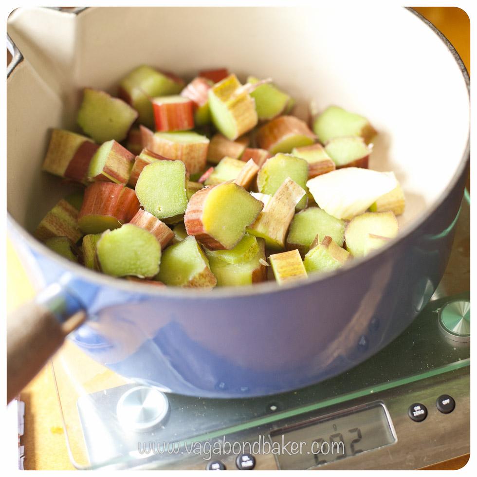 chopped into a pan