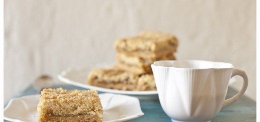 Rhubarb Crumble Slices / Vagabond Baking