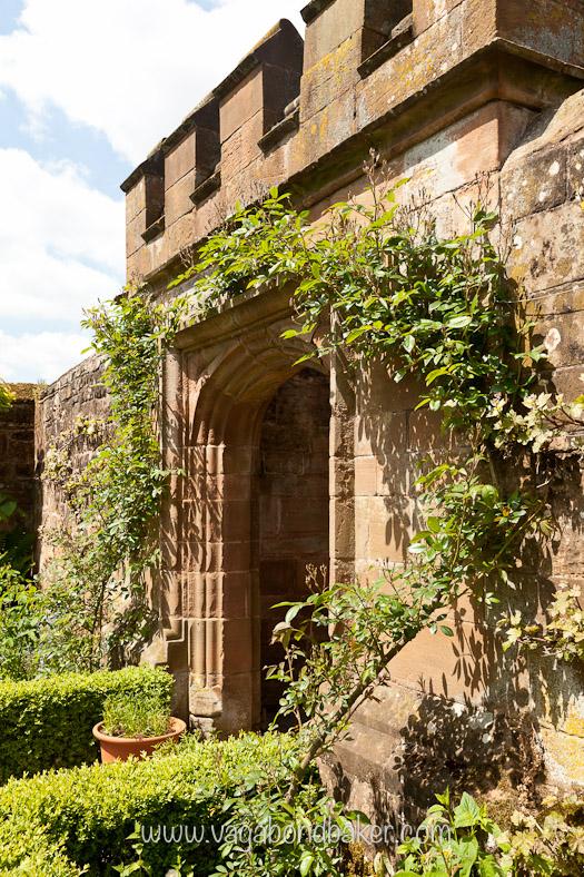 A gateway in the castle walls.