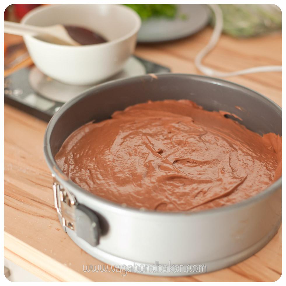 Use a springform cake pan