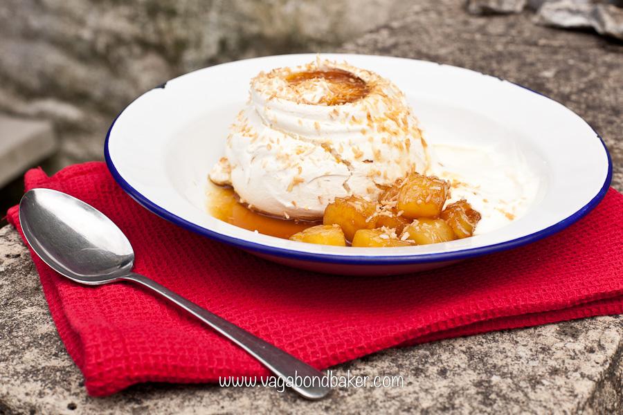 Coconut Crusted Meringues | Vagabond Baking