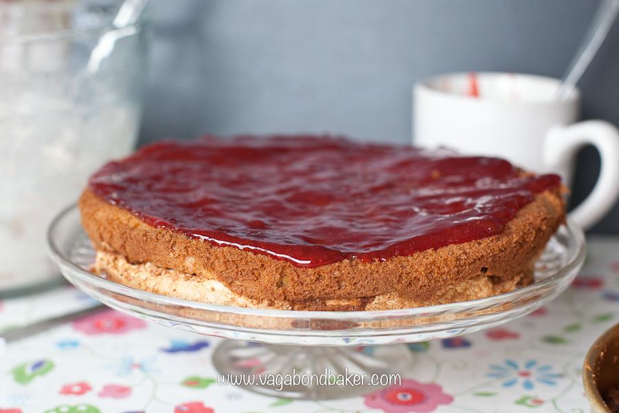 Strawberries and Cream Meringue Cake | Vagabond Baking-10