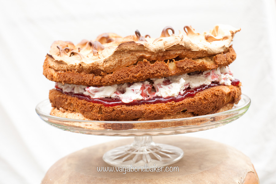 Strawberries and Cream Meringue Cake | Vagabond Baking-12