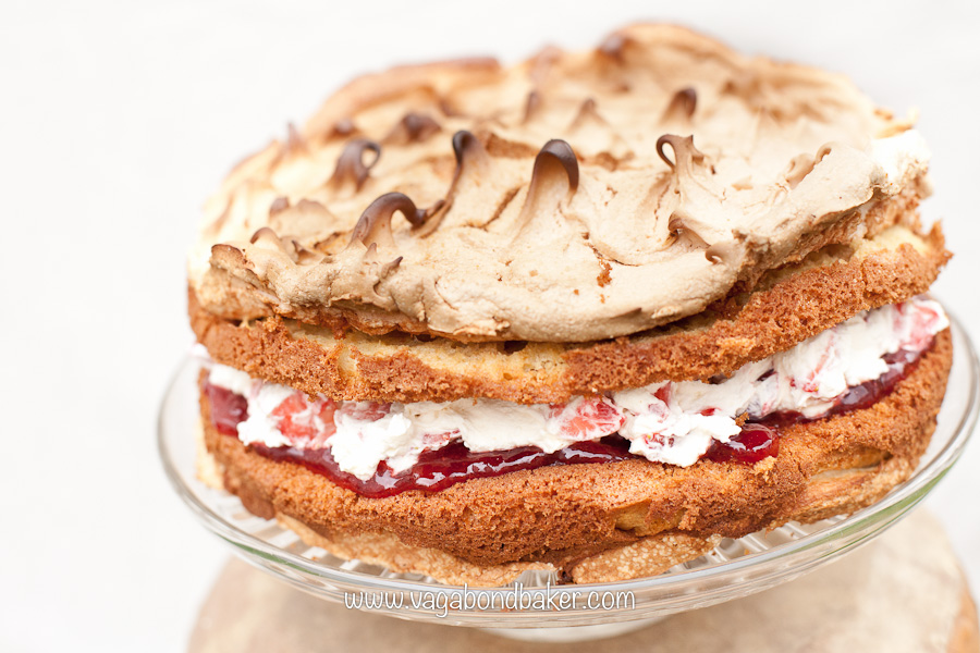 Strawberries and Cream Meringue Cake | Vagabond Baking-13