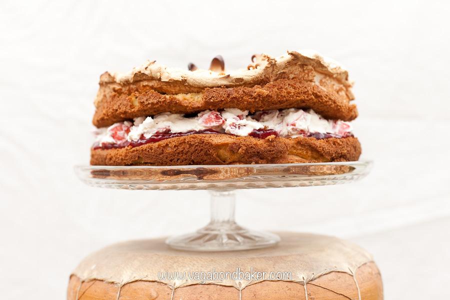 Strawberries and Cream Meringue Cake   Vagabond Baking-14