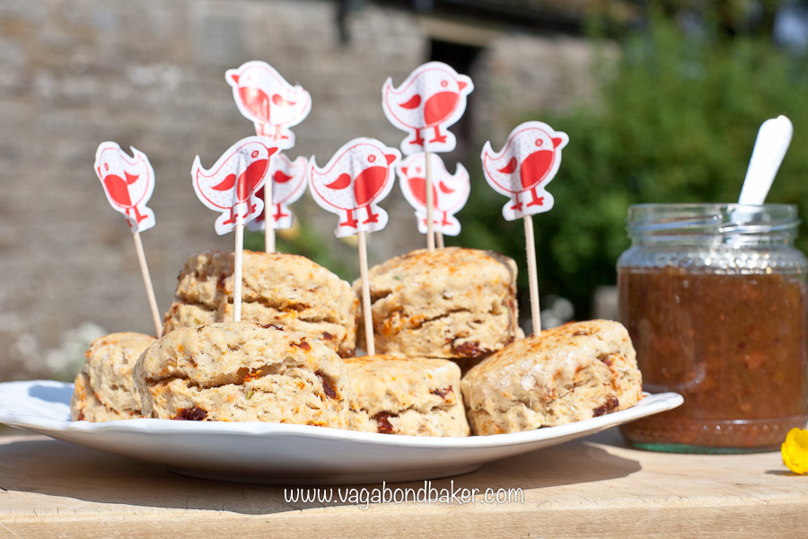 Vegan Sun-Dried Tomato Scones | Vagabond Baking