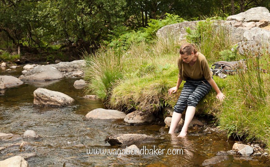 I just can't keep my feet out of these Welsh rivers!