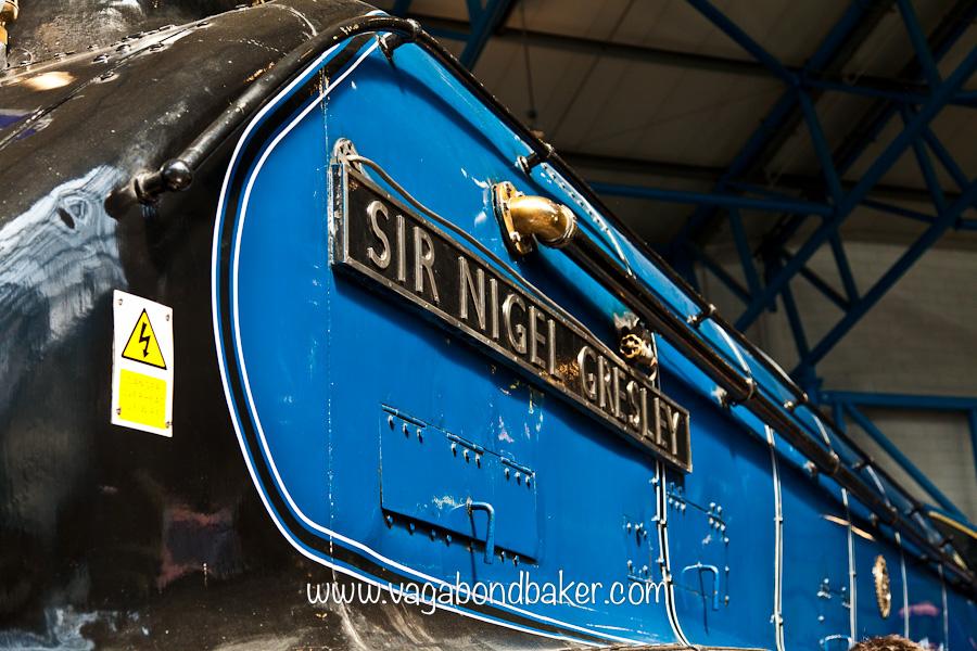 The engines were designed by Sir Nigel Gresley