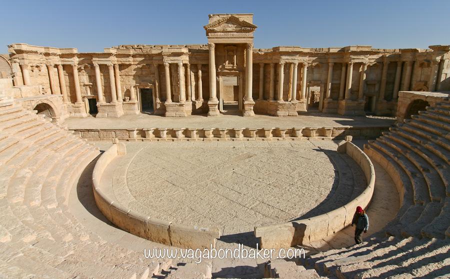 The Roman amphitheatre, Palmyra