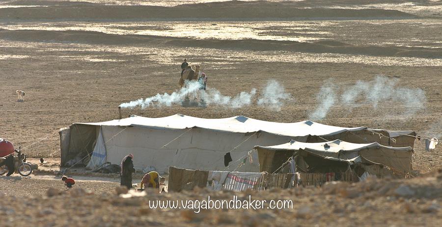 Bedouin Camp in the shimmering desert