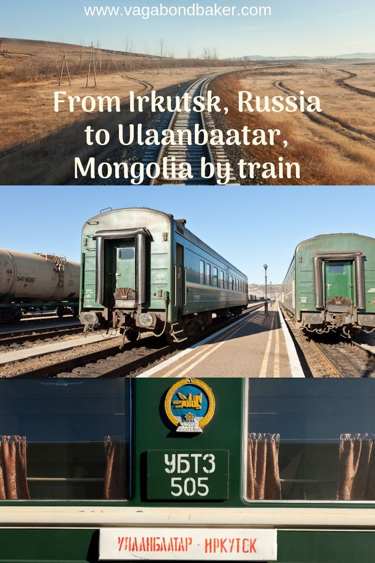 Travelling by train from Russia to Mongolia, branching off the Trans-Siberian Railway to Ulaanbaatar.