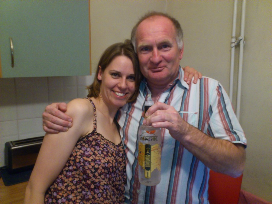 A cheeky vodka with Shaun in my jimjams