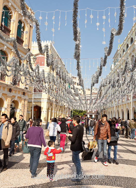 Christmas decorations in Macau
