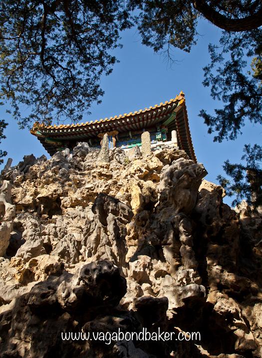 Pagoda atop a perilous hill