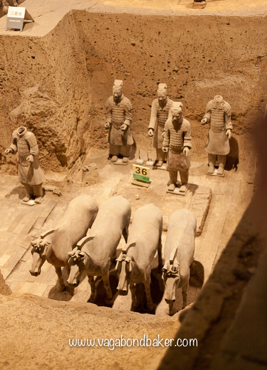 Clay horses, the wooden chariot long gone.