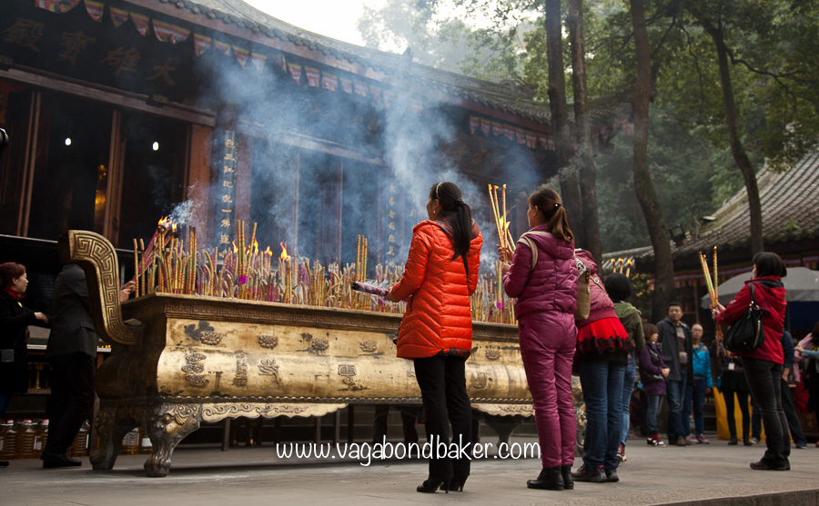 Offerings at Buddha's feet