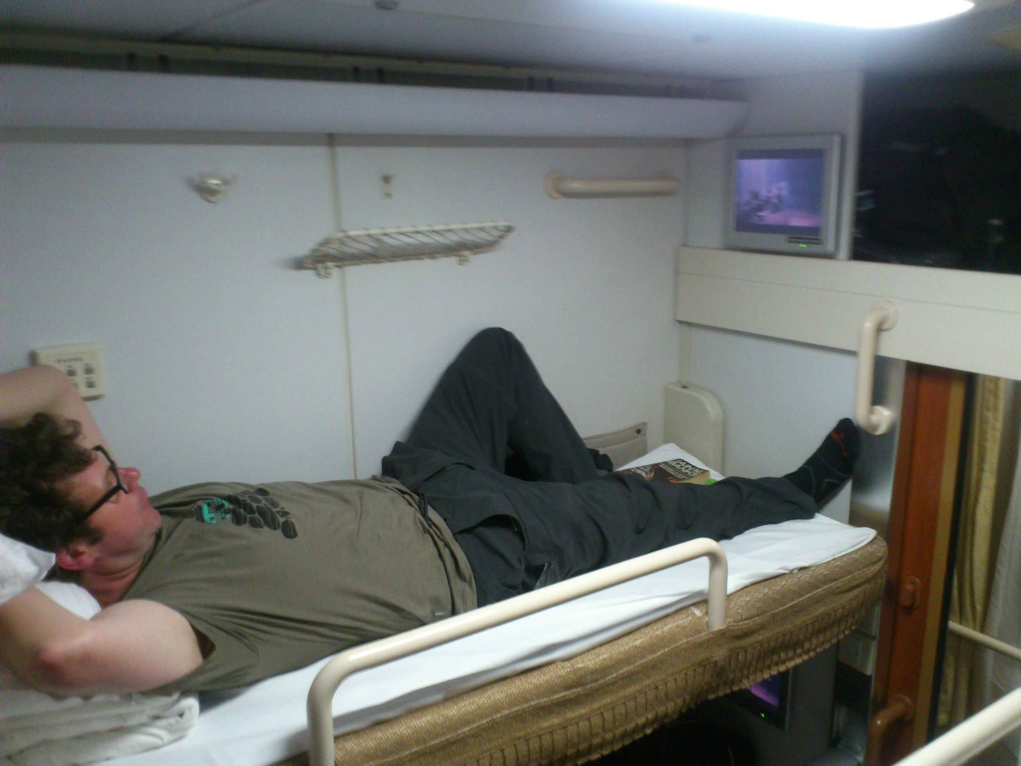 Soft Sleeper on the T99 Shanghai to Kowloon train