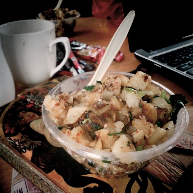 Fried potato in Yangshuo