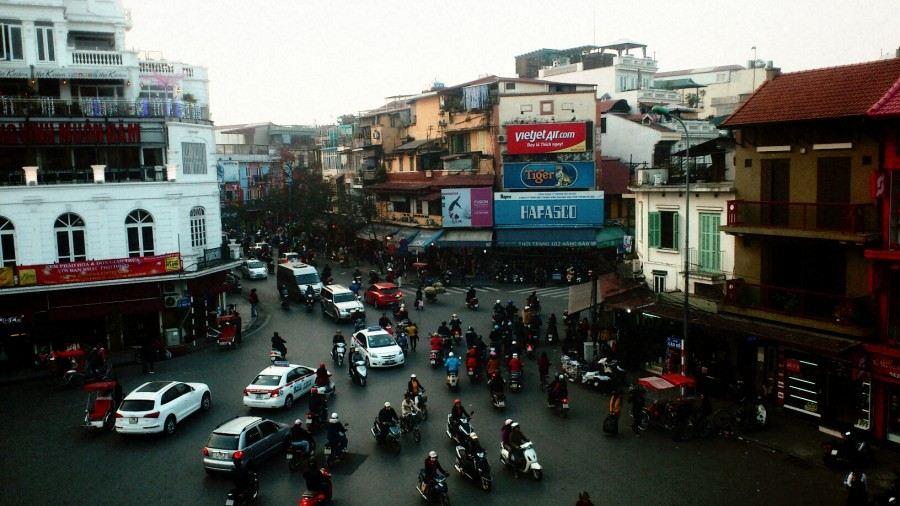 Hanoi's crazy traffic