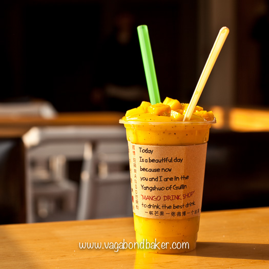 Amazing Mango and Passionfruit smoothie