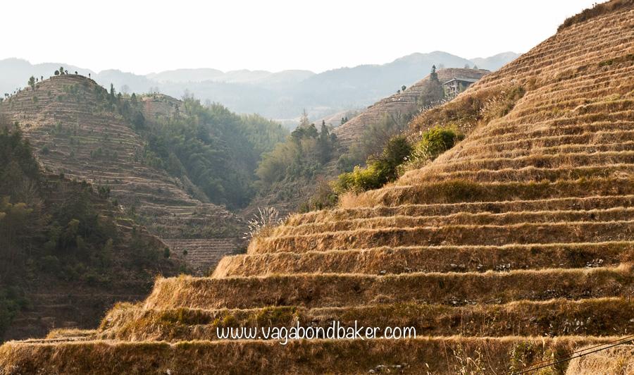 Terraces like giant's steps