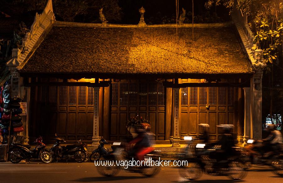 A pretty, old building near Hoan Kiem Lake