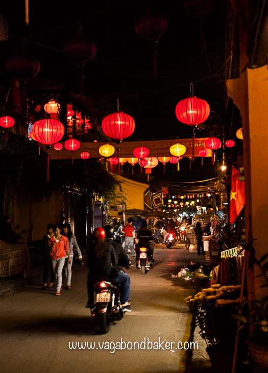 Lantern lined streets get my heart every time!