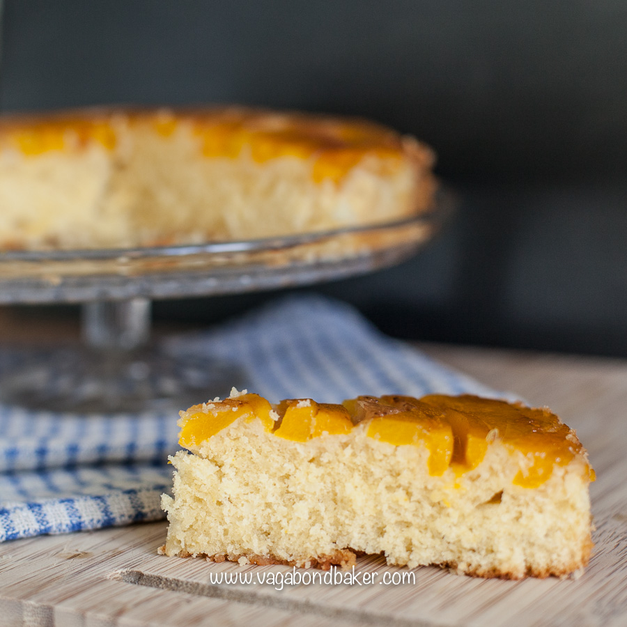 mango and coconut upside down cake