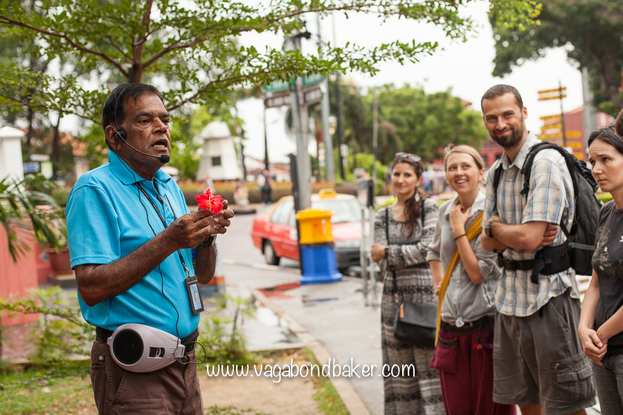 Our guide for the 2.5 hour free walking tour