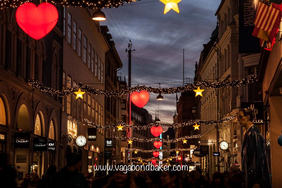 Pretty street decorations. Oh Copenhagen, I love you too!